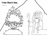 Moses Coloring Pages (Exodus from the Bible)
