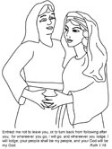 Ruth & Naomi Coloring Pages
