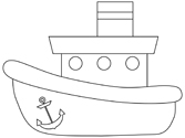Boats and Ships Coloring Pages