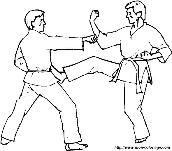 coloring Sport, page boxing judo karate coloring page 02