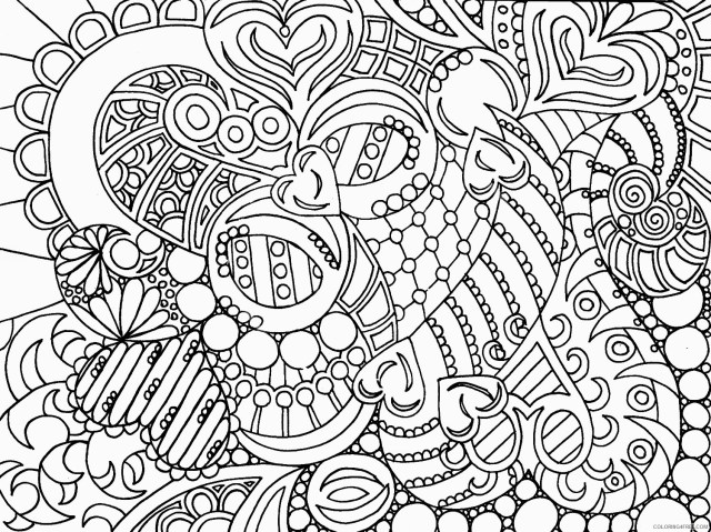 abstract printable coloring pages for teenagers Coloring23free
