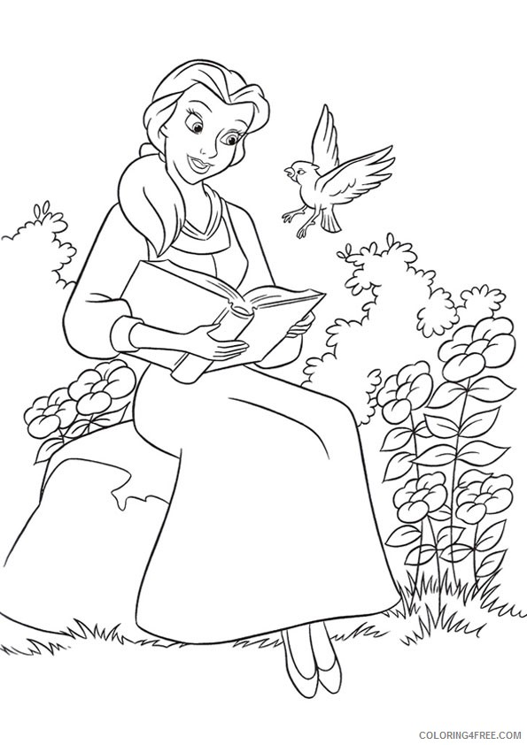 Get This Beauty And The Beast 2017 Coloring Pages Belle
