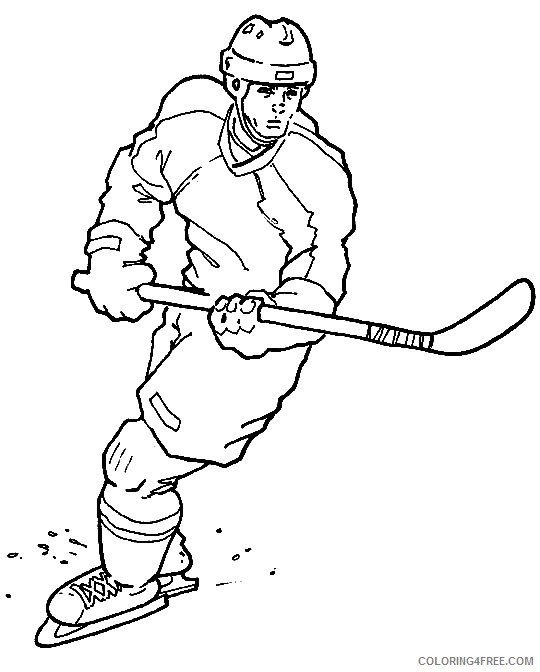 hockey coloring pages to print Coloring4free