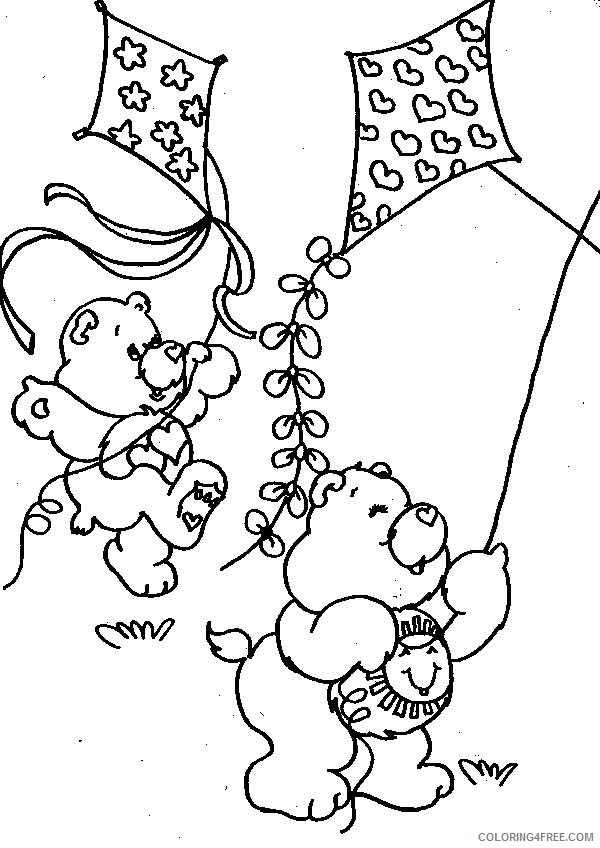 kite coloring pages care bears Coloring4free
