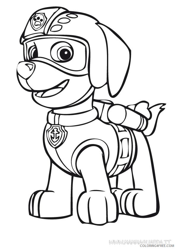 Paw Patrol Zumas Badge Coloring Page Free Printable Pages