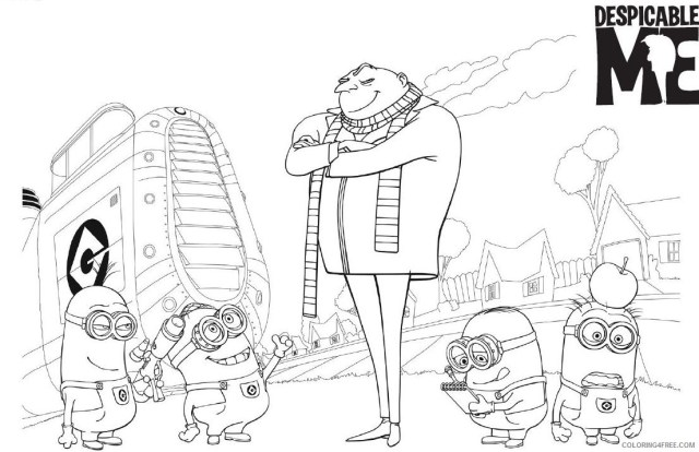 printable despicable me coloring pages Coloring30free