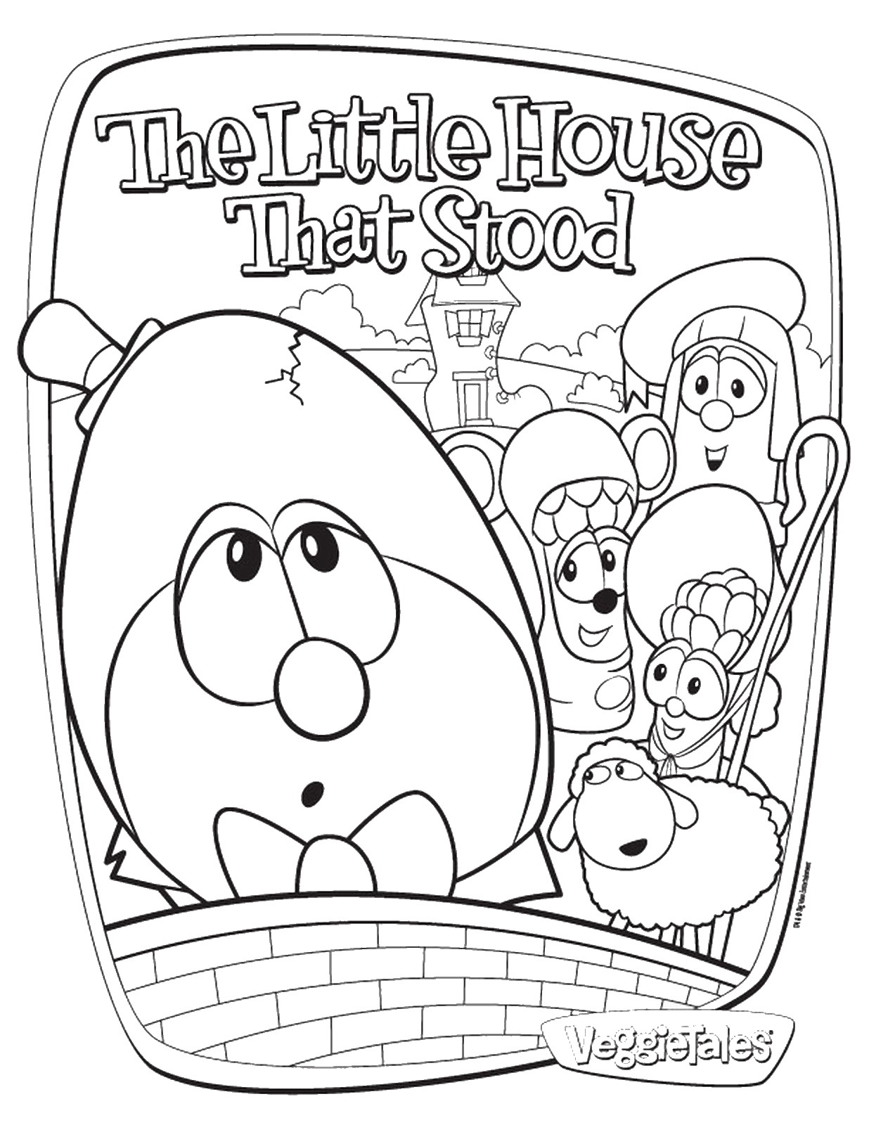 Veggietales Madame Blueberry Coloring Page Coloring Pages