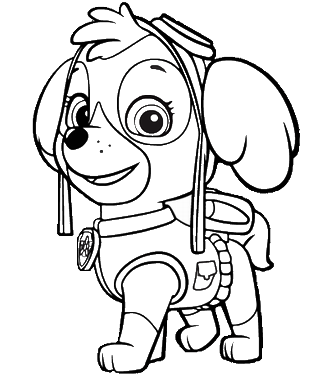 Paw Patrol Coloring Masks Coloring Pages
