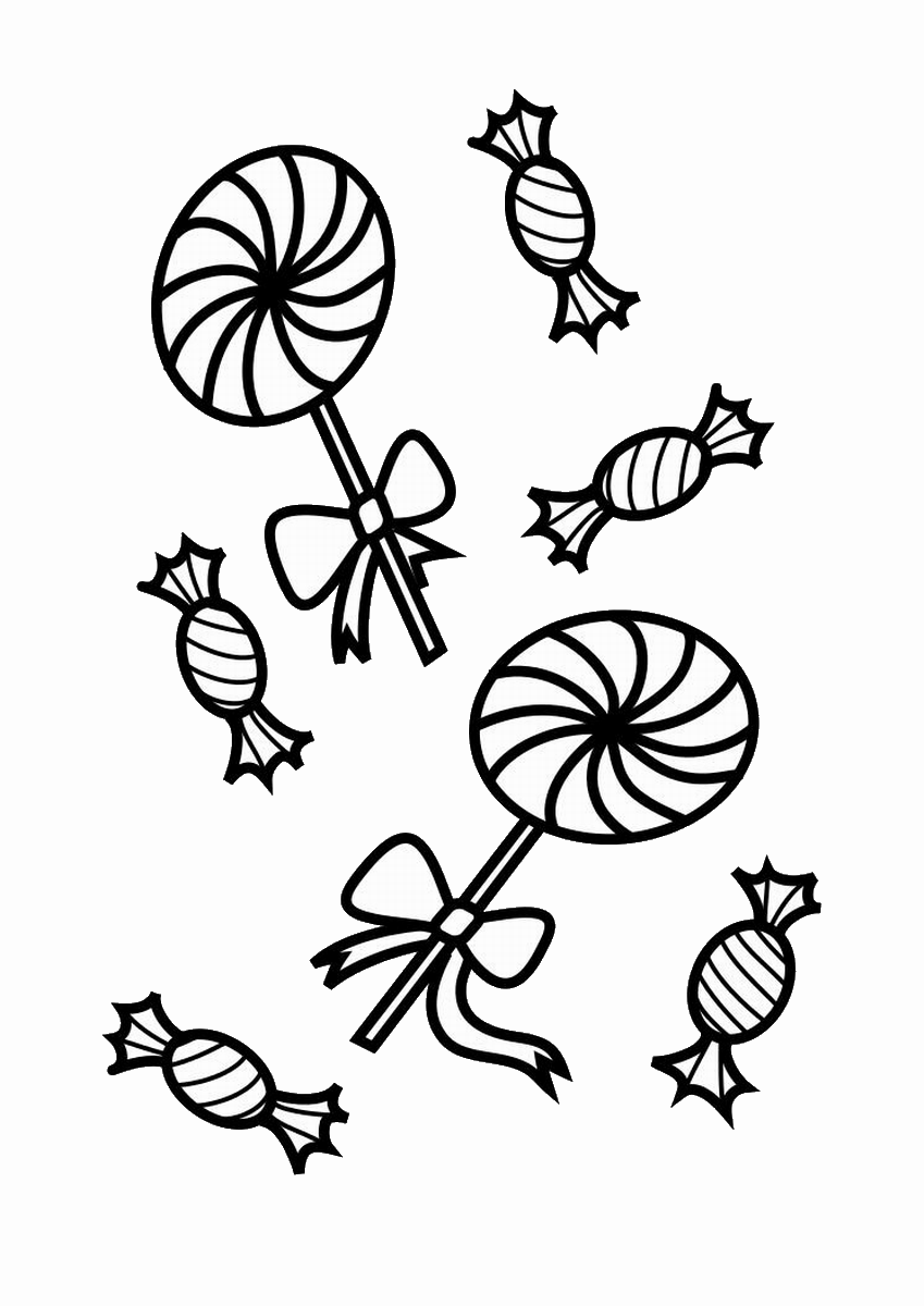 Black And White Cotton Candy Coloring Page Coloring Pages