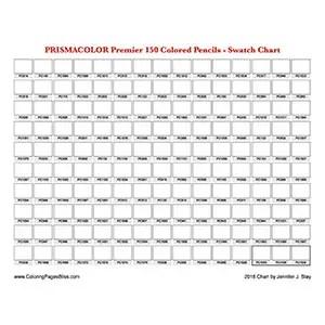 Prismacolor Premier 150 Color Swatch Chart