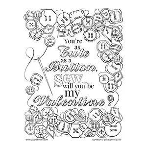 Cute as a Button Valentine's Day Card