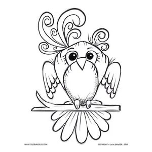 Adorable Bird Coloring Page