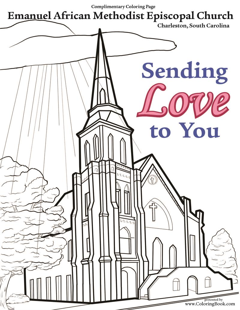 Free coloring pages of ame church