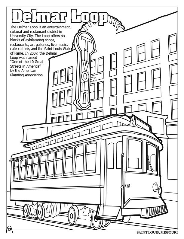 Coloring Page Museum