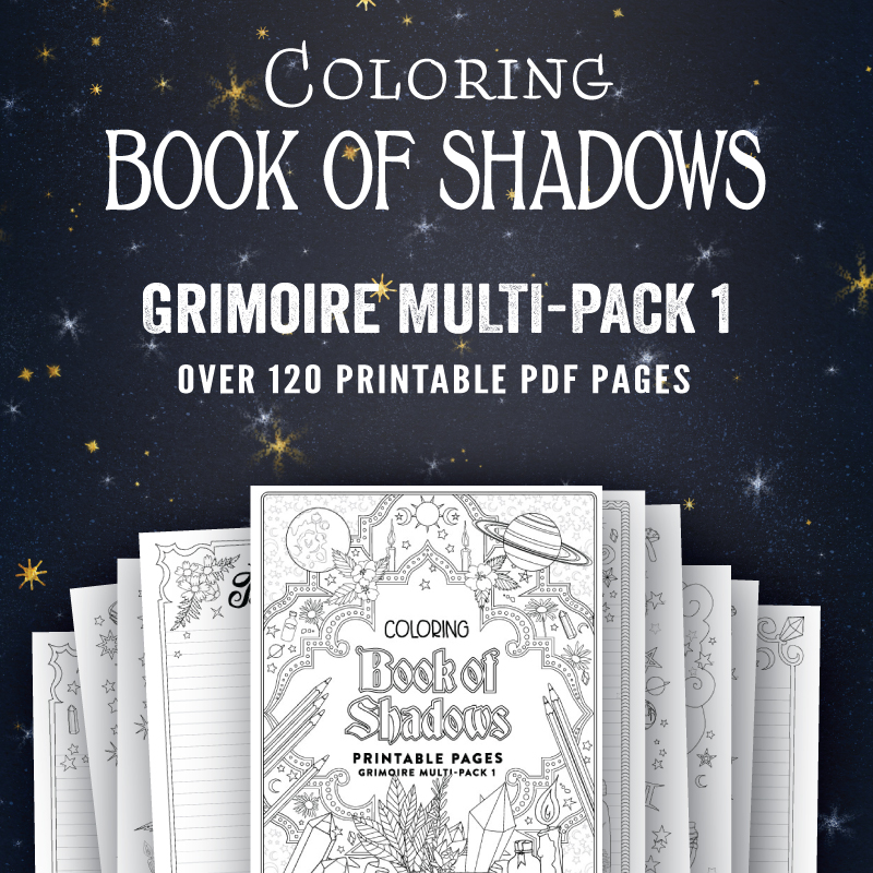 Printable Book Of Shadows Pages Coloring Book Of Shadows