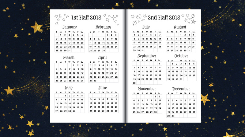 New Book Announcement Planner For A Magical 2018
