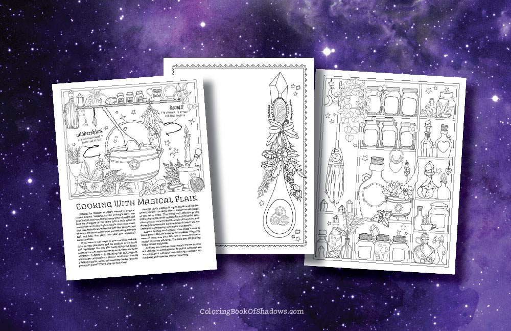 Witch Life Coloring Book Of Shadows