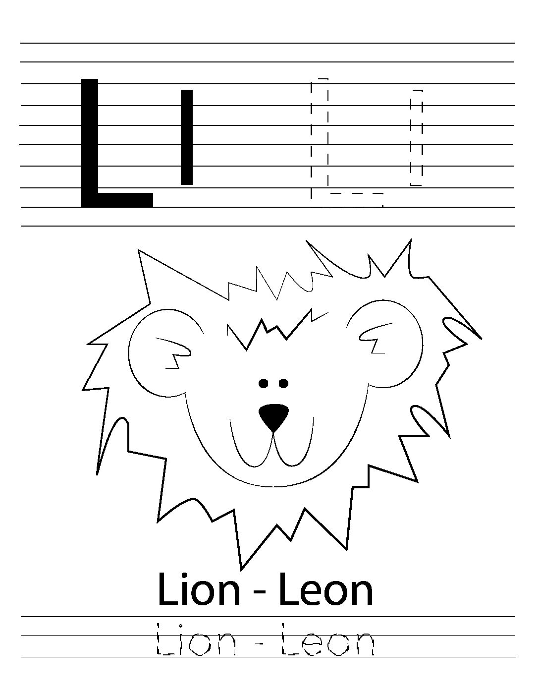 hight resolution of ABC Coloring Pages – A to Z – Bilingual – Animal worksheets – Letters  worksheets – Coloring Books for Kidz