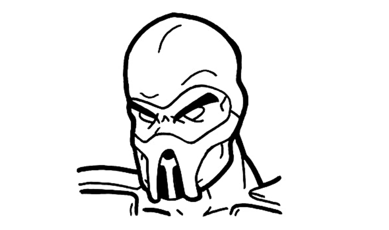 Sub Zero Mortal Kombat Coloring Pages