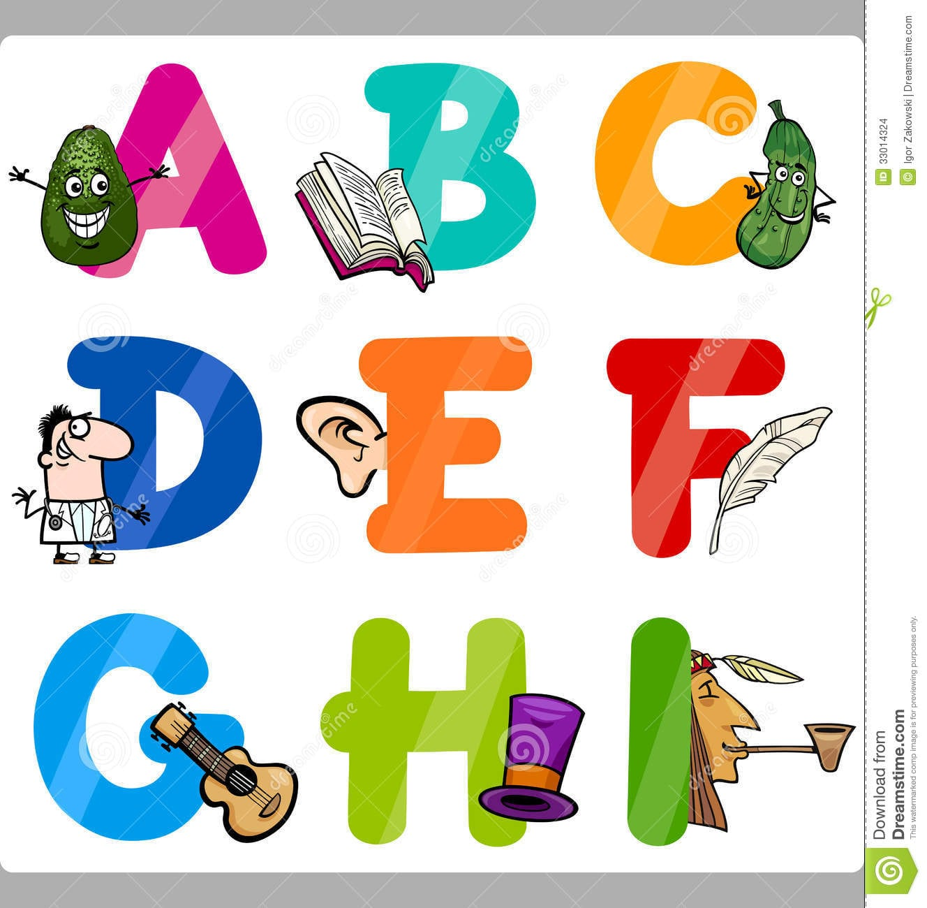 Desenho De Letras Do Alfabeto