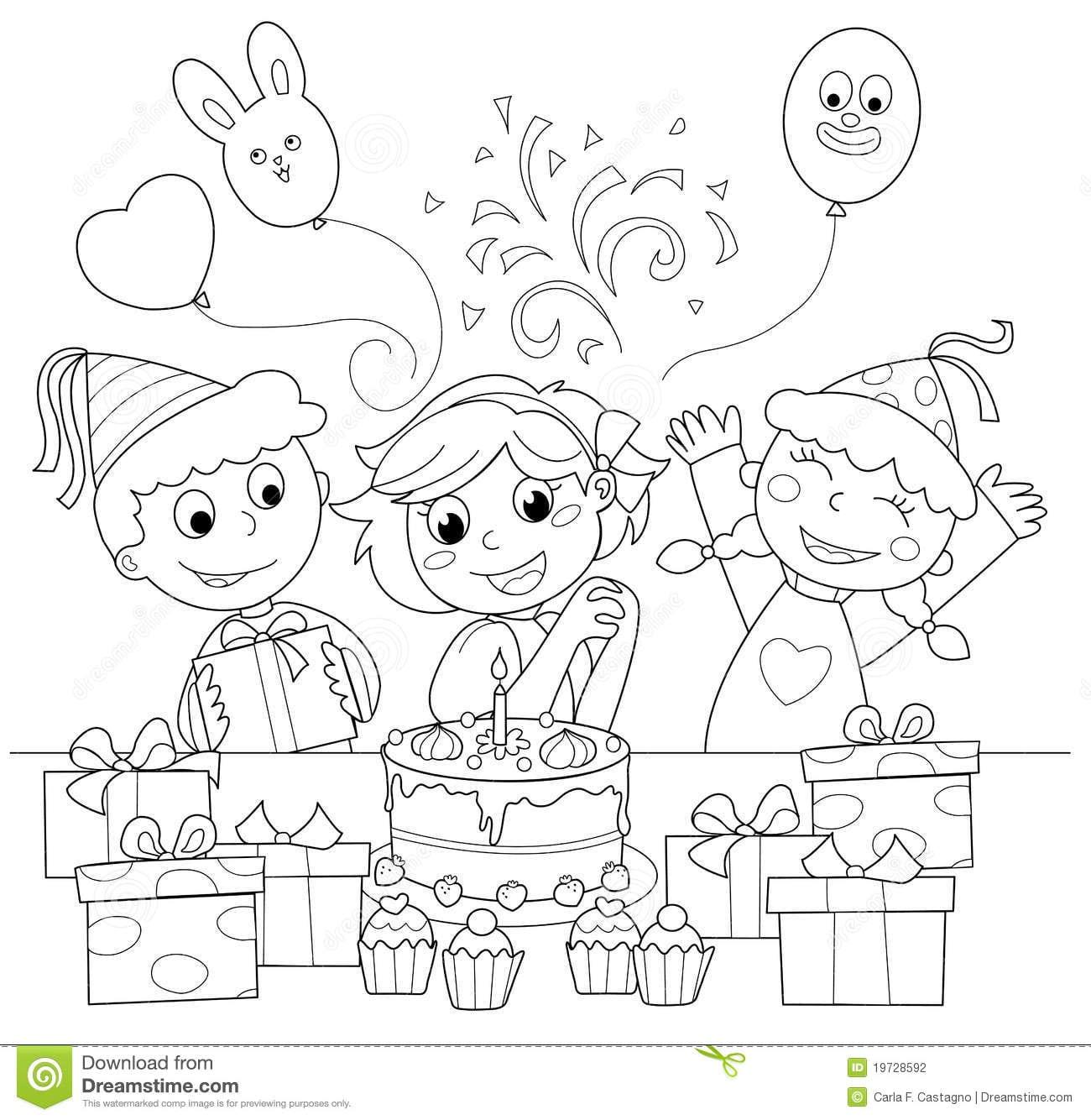 Desenhos Para Colorir De Feliz Aniversario
