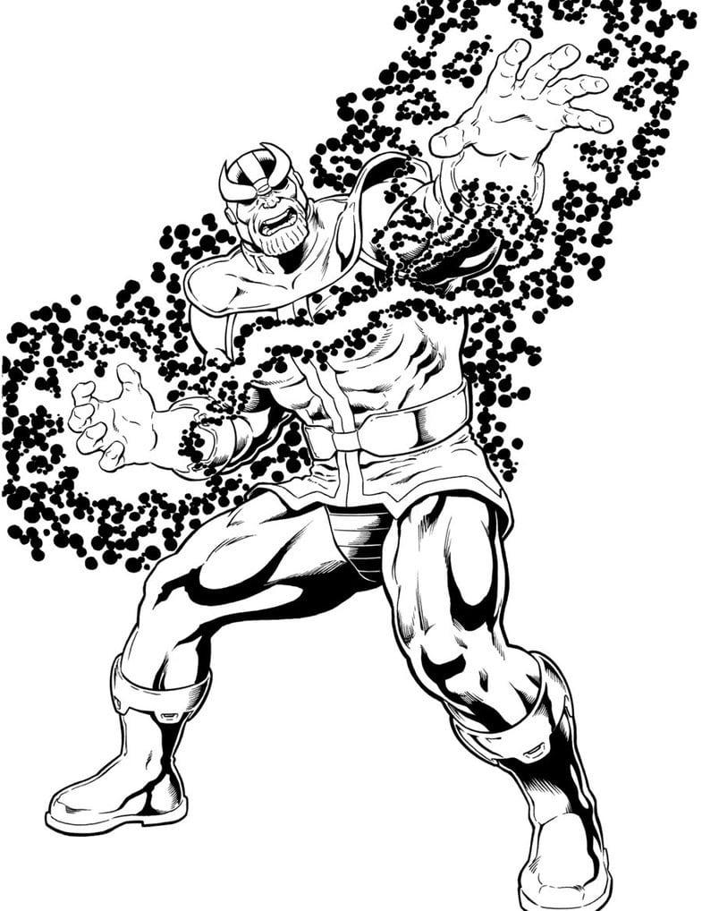 Desenho De Super Herois Para Colorir