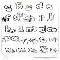 Letras Infantiles Para Dibujar Y Colorear
