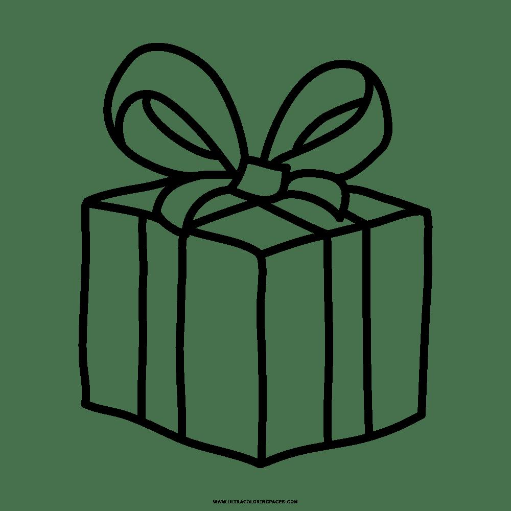 Presente De Natal Desenho Para Colorir