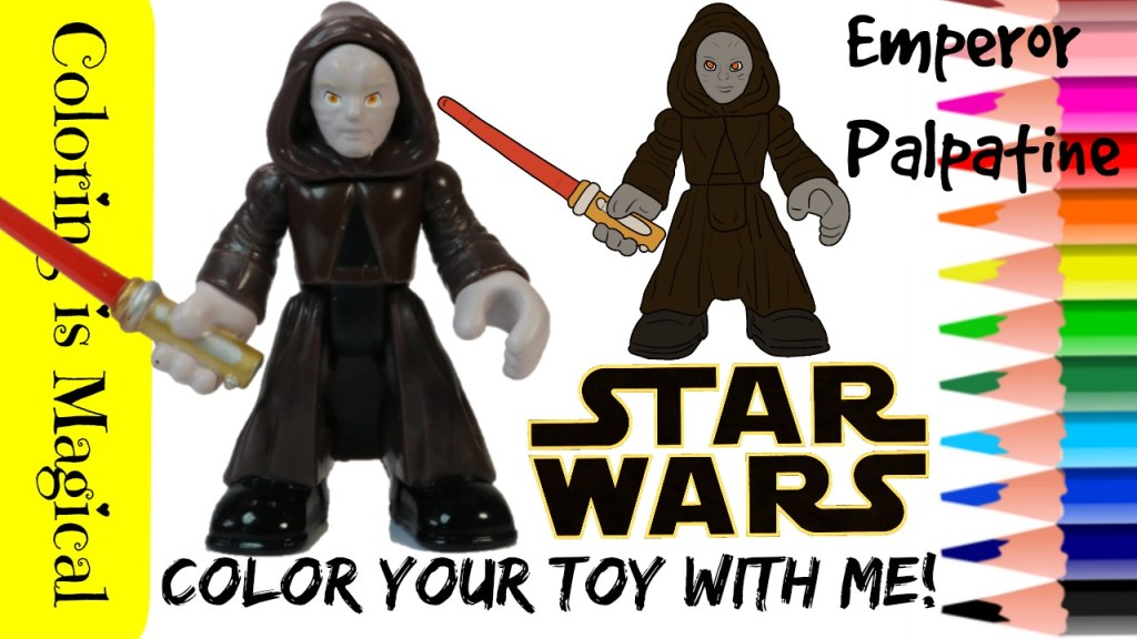 Color Emperor Palpatine Coloring Page Star Wars Toy Video How To Draw