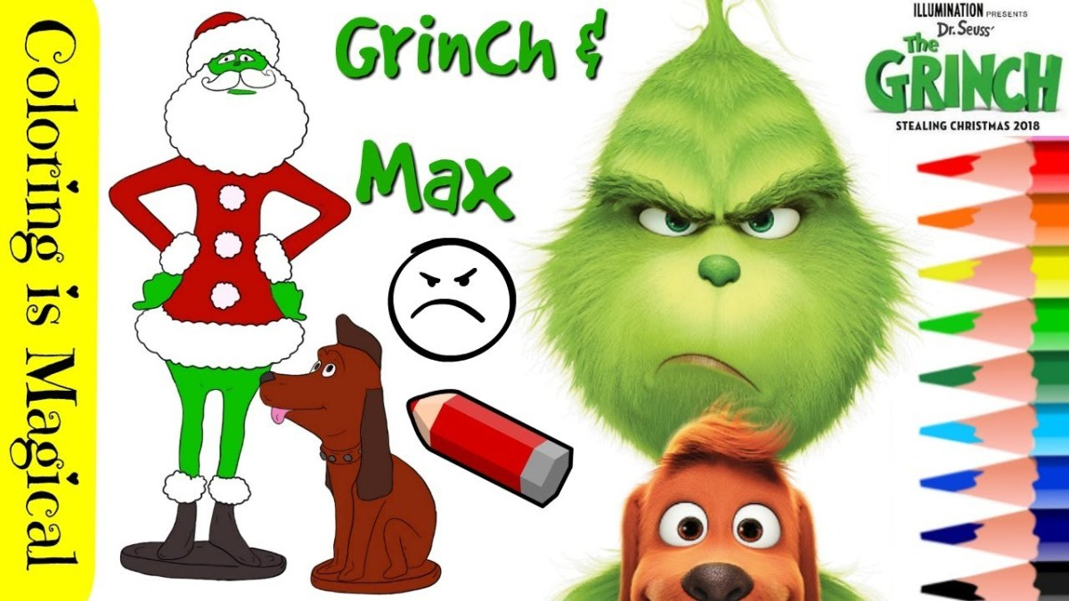 The Grinch Max Coloring Page Video Color Grinch Video