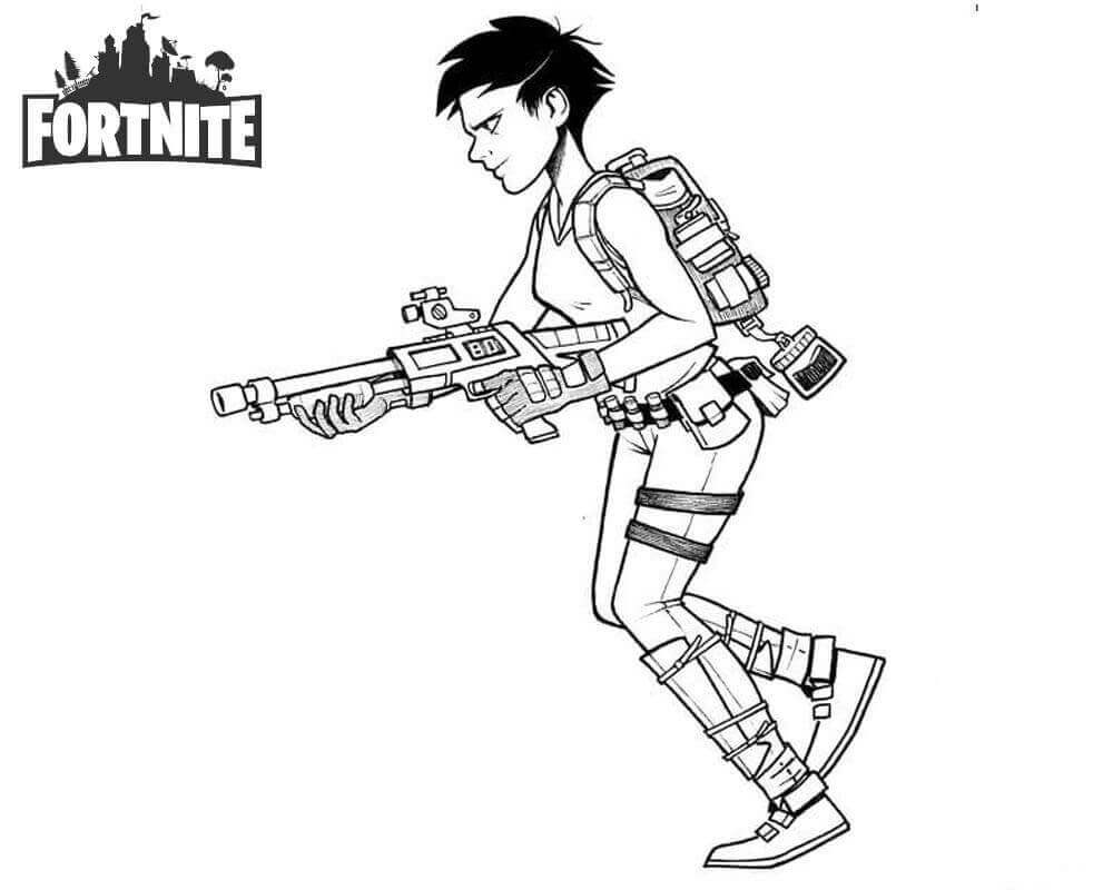 Best Fortnite Coloring Pages Girl Line Art Free Printable
