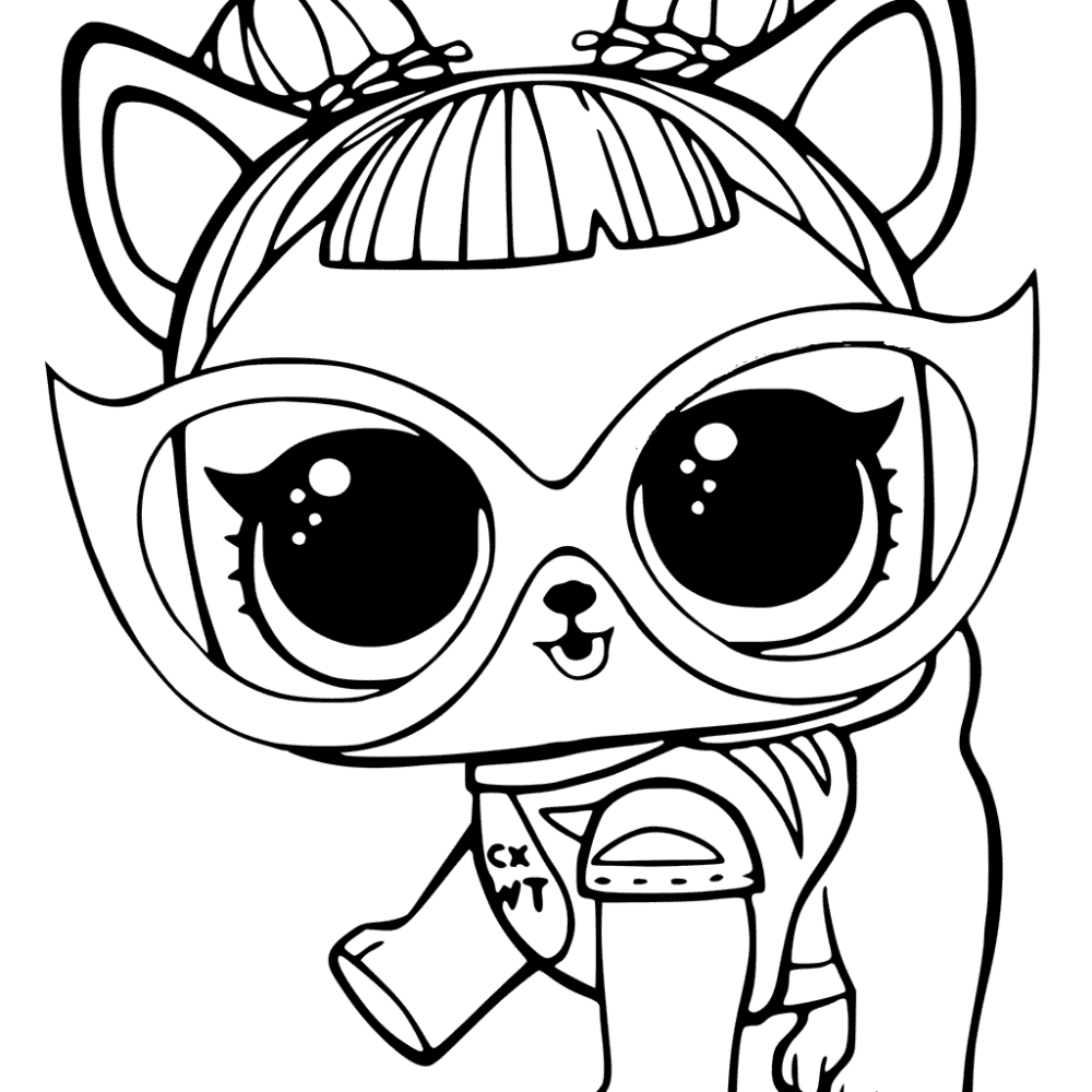 20 Free Printable Lol Surprise Pets Coloring Pages