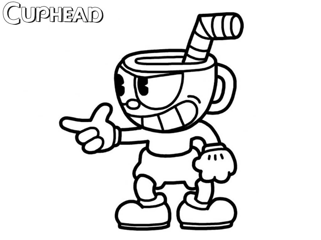 Cuphead Coloring Lesson | Kids Coloring Page