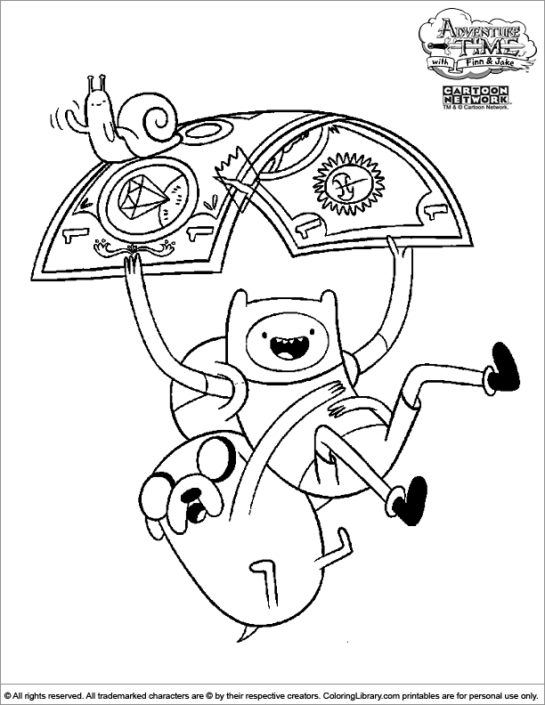 adventure time printable coloring page  coloring library