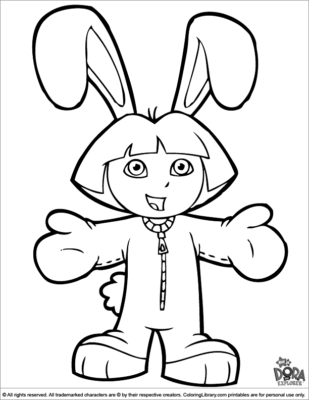 Dora The Explorer Coloring Page That You Can Print Coloring Library
