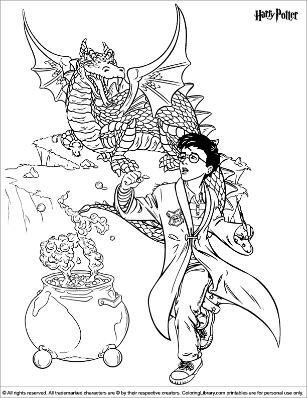 Harry Potter Goblet Of Fire Coloring Pages Coloring Pages