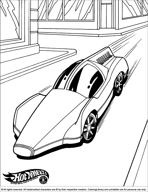 Hotwheels Coloring Book Printable Coloring Library