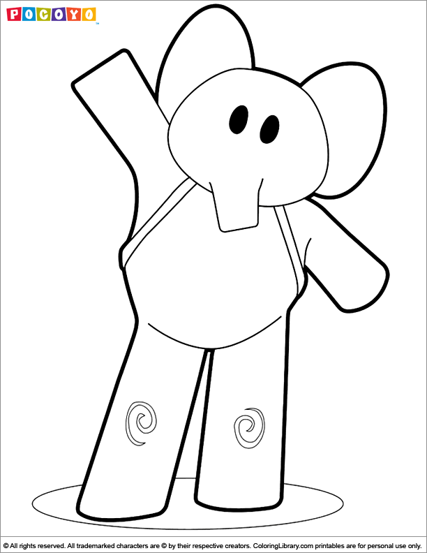 Pocoyo Free Printable For Kids Coloring Library