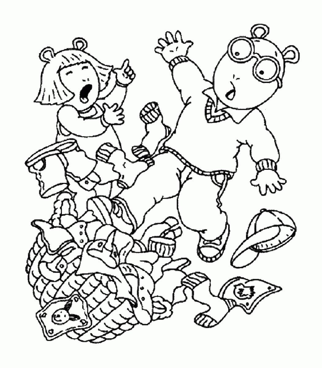 Printable Arthur Coloring Pages Coloringme Com