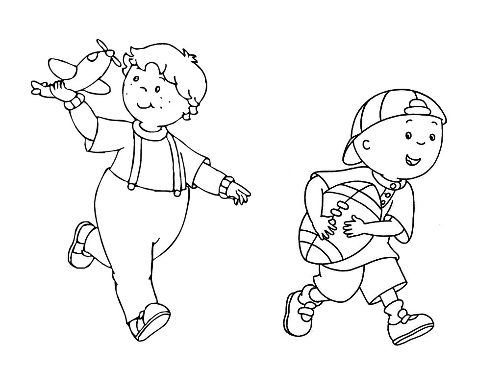 caillou coloring page pages for kids