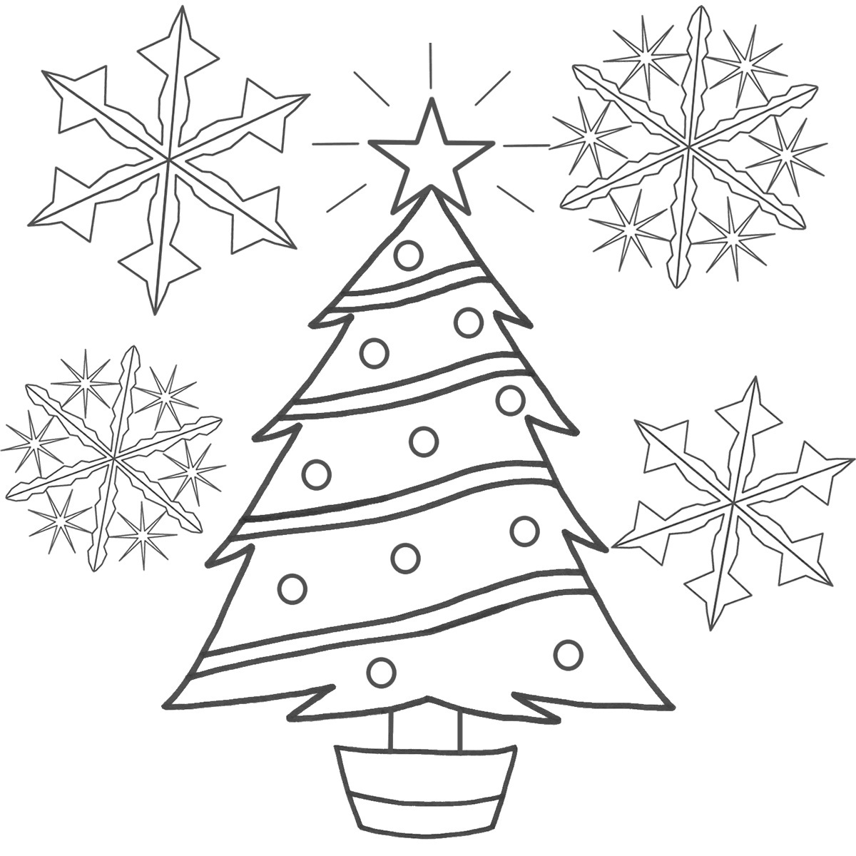 Printable Christmas Tree Coloring Pages Coloringme Com