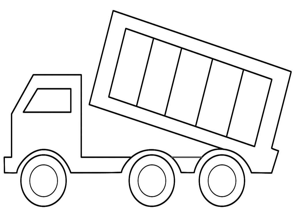 Dump Truck Drawing Coloring Pages