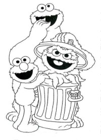Sesame Street Coloring Pages Faces Coloring Pages