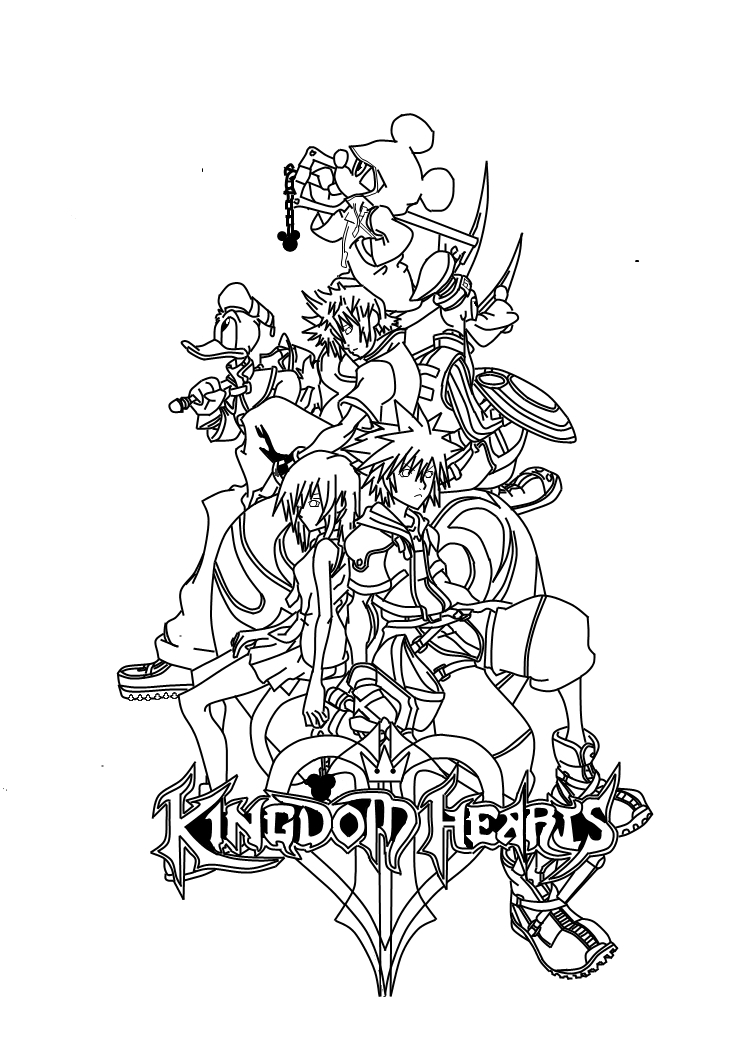 sora hearts 2 hotels Colouring Pages