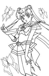 sailor moon and friends coloring pages sailor moon ...
