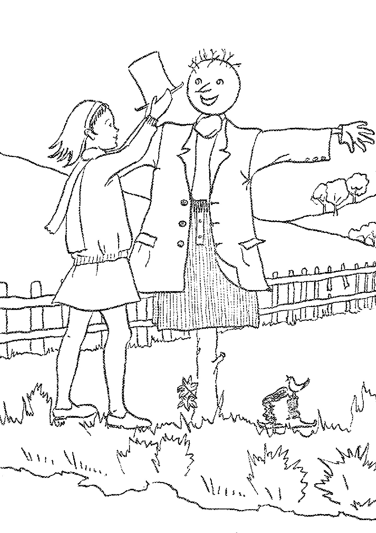 15 Printable Scarecrow Coloring Pages Print Color Craft