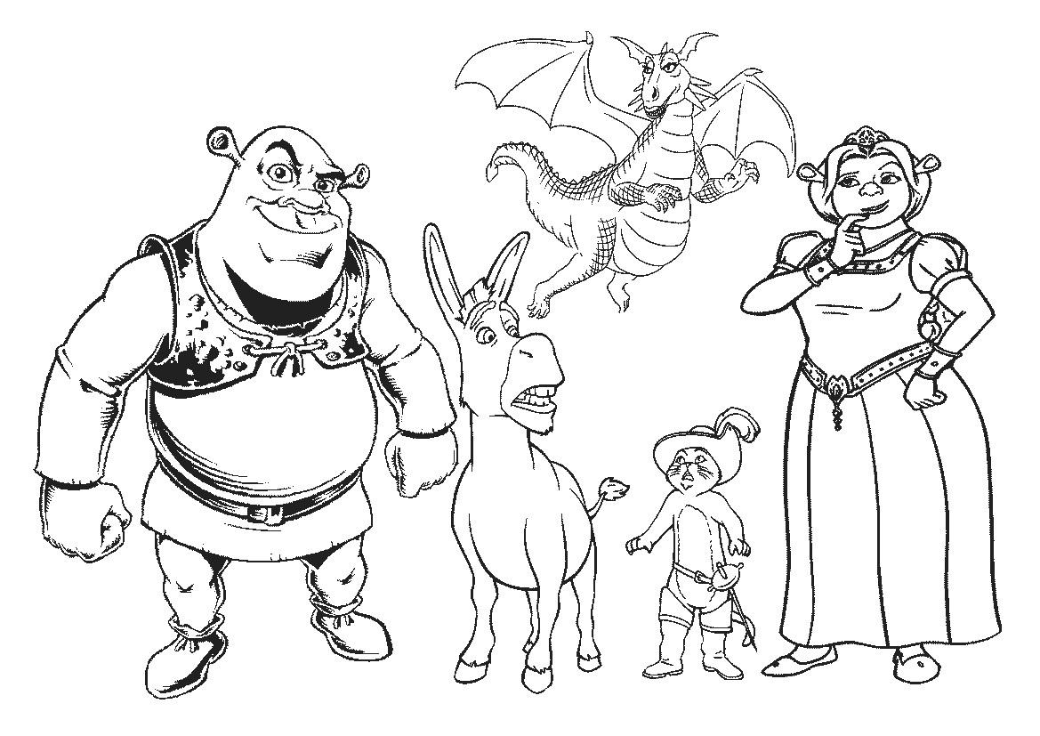 Shrek Online Coloring Pages