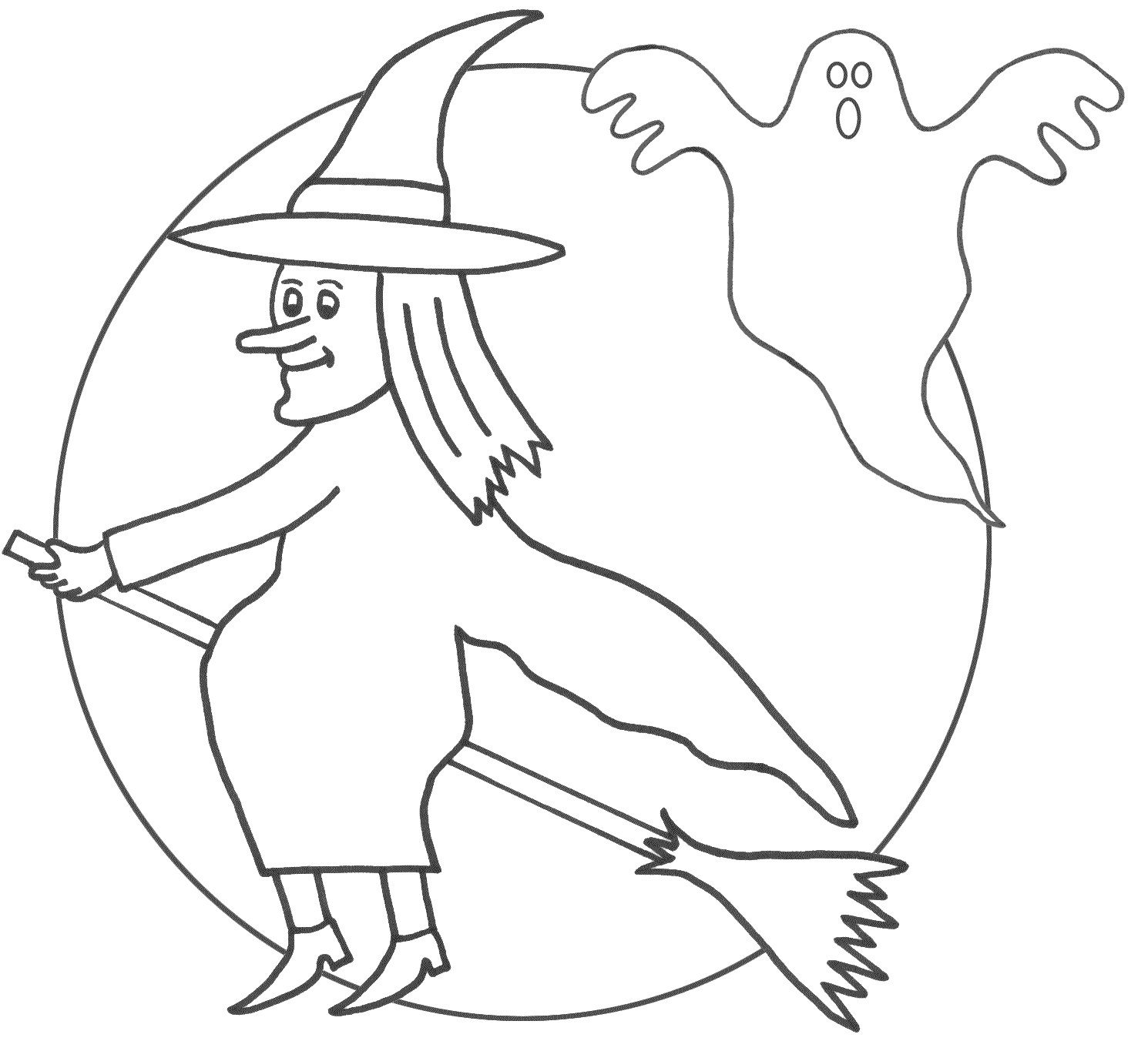 Witch Coloring Pages Preschool Coloring Page