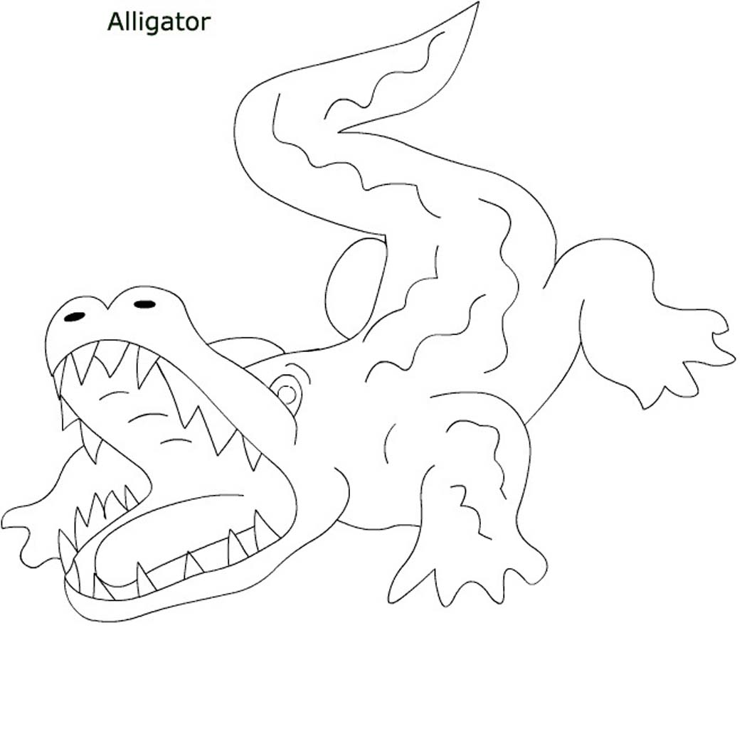 Alligator Printable Coloring Pages