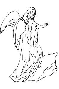 Free coloring pages of angel